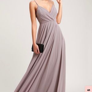 """Lulu's """"All about Love"""" Taupe Maxi Dress"""